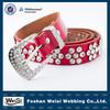 Foshan weisi manufacturer custom women beaded stretch belt