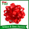 wholesale red color printed satin ribbon gift bow