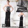 12406 Fast Shipping Women Jersey Fashion Top Design Side Slit Beaded Evening Dress