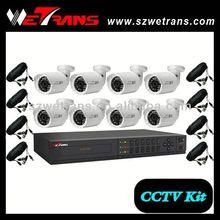WETRANS 2015 CCTV KIT 5308B2M3 8CH Outdoor camera 8 Channel Network Standalone DVR System CCTV DVR kit
