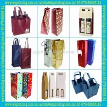 paper wine bottle bag, wine bag, paper packaging bag