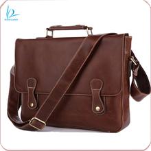New genuine leather mens vintage leather messenger bag