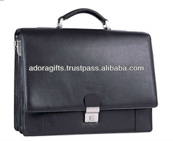ADALCB - 0005 genuine leather conference bags / stylish conference laptop bags / personalized leather mens conference bags