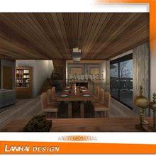 Wooden Furniture Villa Interior Design