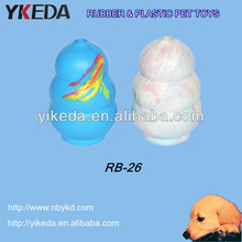 Colour Gourd Rubber Pet toys for dog