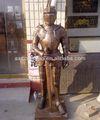 Escultura de bronce --- samurai armor