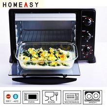 Heat resistant pyrex glass casserole dish