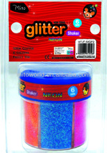 EN71 2014 alibaba new design glitter shell package 50 gr neon glitter