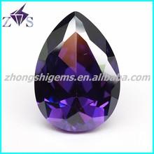 fashion jewelry set amethyst pear shape cubic zirconia wholesale