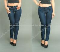 New Arrival 2014 Rosie Jeans Ladies Classic Low Waist Dark Blue Denim Stretch Fashion Skinny Jeans