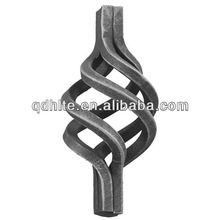 made in China iron main gate design decorative for fence and gate artistic sand blasting wrought iron baskets