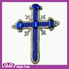 Embroidery Rhinestone Cross Beads Patch For Sewing On