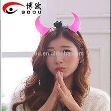 Devil horn LED light headband fashion carnival party wholesale