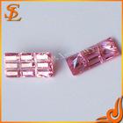 Wuzhou LS Jewelry Wholesale Pink Rectagle Shape CZ fake gemstones
