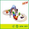 tren de madera de juguete de pista
