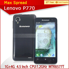 lenovo p770 dual sim card touch screen 1gb ram 4gb rom gsm mobile phone