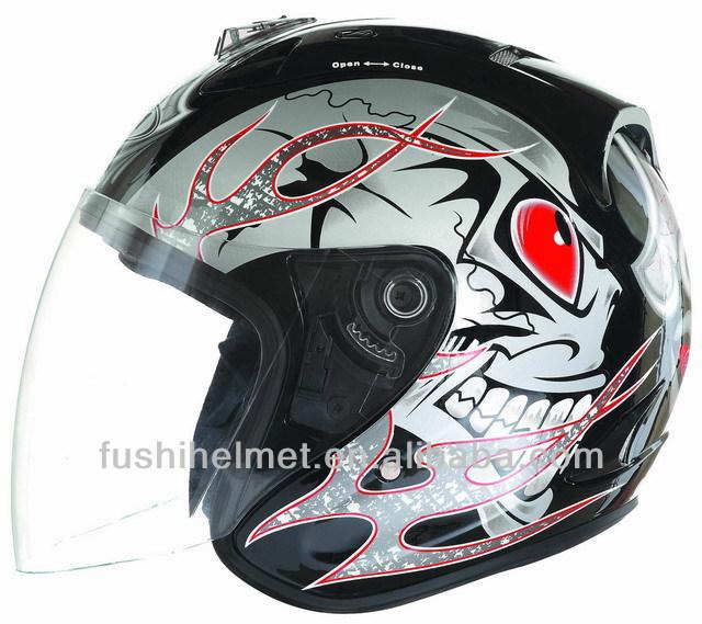 Scary Stylish Open face Motorcycle Helmet 808(Best for Halloween Season)