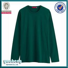 2015 new style men's long sleeve t shirt fashion cotton plain cheap men 92% polyester 8% spandex mens t shirt