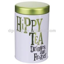 round metal boxes tea box