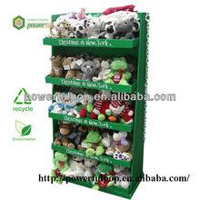 Supply Christmas dolls promote floor standing cardboard display