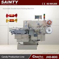 Flat Lollipop Wrapping Machine JHD800 Automatic Chocolate Twist- Packing Machine