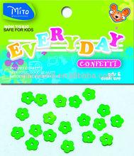 lovely green small 5 petals flower confetti
