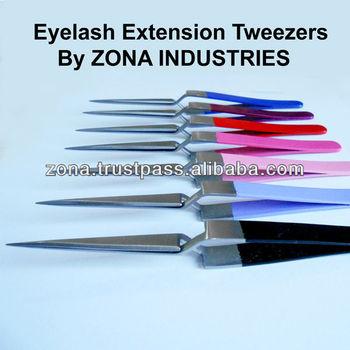 X Type Eyelash Extension Tweezers With Customer's Brand Name / Eyelash Extension Tweezers Suppliers From Pakistan