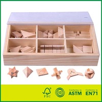 Wooden Puzzle Games In a Wooden Box
