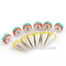 316L stainless steel fake ear taper body piercing jewelry fake ear taper