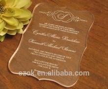 new style elegant acrylic wedding invitation