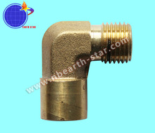 right angle gas hose brass connector