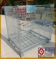 Contenedores Plegables de malla de alambre / jaula Apilable de Almacenamiento / cesta de metal