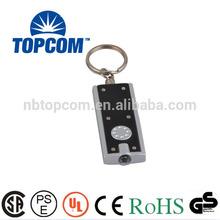 Hot promotion light rectangle shaped plastic 1 mini led keychain light