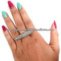 925 prata esterlina marquise em forma de anel, pave diamantes anel da forma jóia por atacado, designer de jóias de prata fabricante