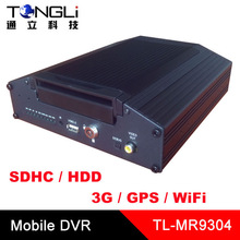 3G Mobile DVR In-vehicle DVR with GPS tracker WiFi 802.11 b/g/n, support both SDHC and HDD storage