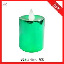 colorful plating tealight candle