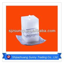 Square Shape White Candle