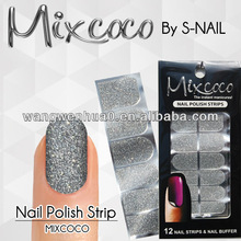 popular 100% real nail polish strips glitter nail strips