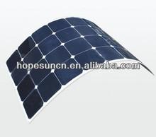 120w Frameless pv solar panel sunpower cells solar panel flexible