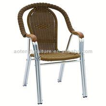 Hot sale aluminum rattan chair rattan wicker chair
