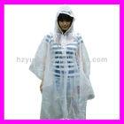 cheap price adult waterproof transparent pvc rainwear poncho