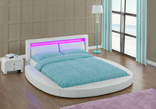 Multi Colour LED Head Pillow Promoton Price PU Round Bed WSB835-1