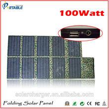 folding solar panel 100w folding solar charger for car battery, laptop