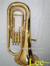 Brass wind instrument 3 valves gold lacquer Bb euphonium horn--550G