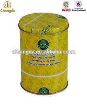 Cereal de caja de embalaje redondo del metal de la botella decorativa cubre CD-191