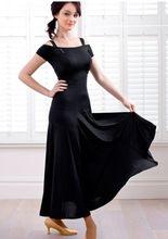 2015 polular noirs manches robe de danse de salon pour latins