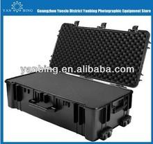 Factory supply waterproof dustproof rushproof plastic equipment camera case with wheels