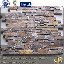 Natural rusty slate stone house siding