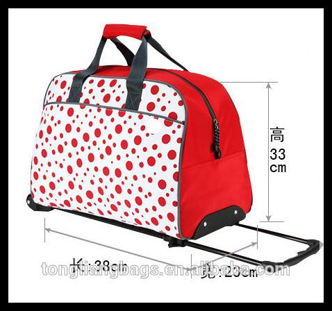 fashionable duffel with trolley bag & sky luggage bag trolley travel bag with wheels