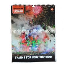 2015 Staple bound Wall Calendar,desk calendar printing,2015 wall calendar printing